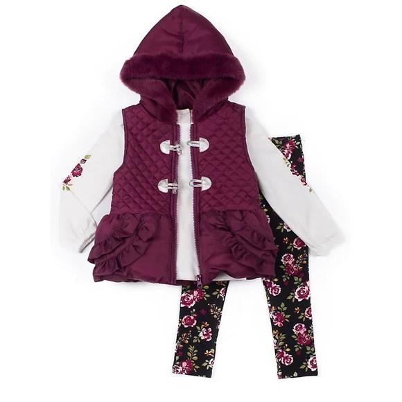 Little Lass 3-piece Puffer Vest set